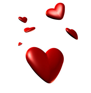 corazones volando